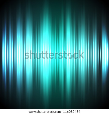 Abstract blue and green vertical lights dark vector background. - stock vector