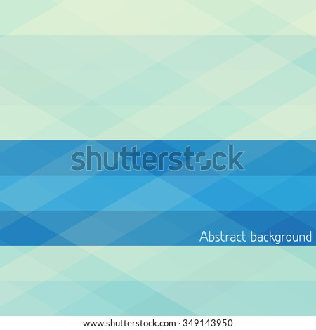 Abstract blue and greeny geometrical pattern with horizontal stripes. Vector background - stock vector