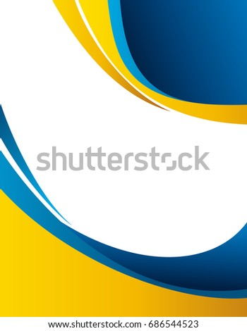 abstract blue orange background wave brochure stock vector royalty