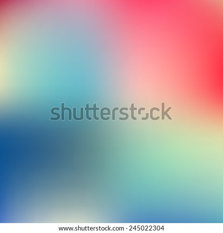 Abstract blue and pink blur color gradient background for web, presentations and prints. Vector illustration. - stock vector