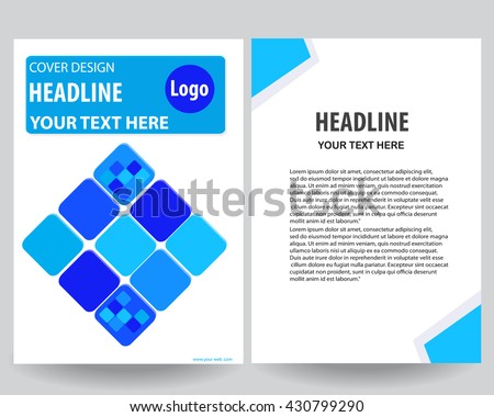 Blue Annual Report Title Page Sample Vector 435919024 – Annual Report Cover Page Template