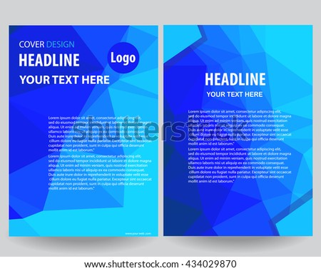 Abstract Blue annual report Leaflet Brochure Flyer template A4 size design, book cover layout design, Abstract presentation templates