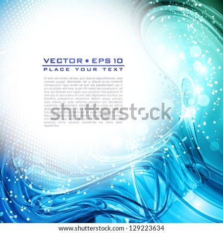 Abstract blue artistic background. Vector