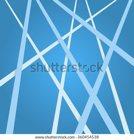 Abstract blue background. Abstract blue lines. Art blue overlapping stripes. Blue abstract streaks. Abstract blue tapes. Abstract blue ribbons. Abstract blue background for design. - stock vector