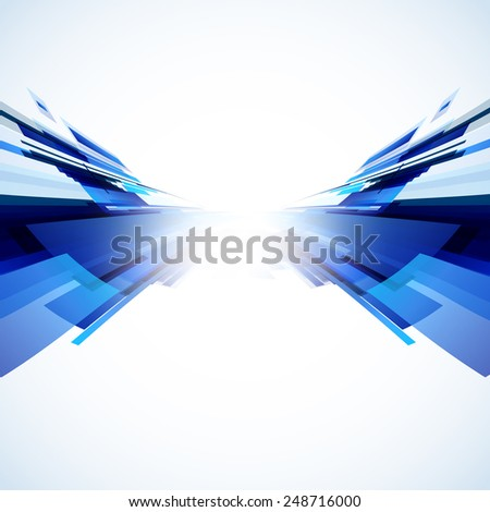 Abstract blue background, easy editable - stock vector