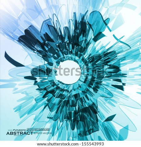 Abstract blue background, futuristic shape illustration eps10