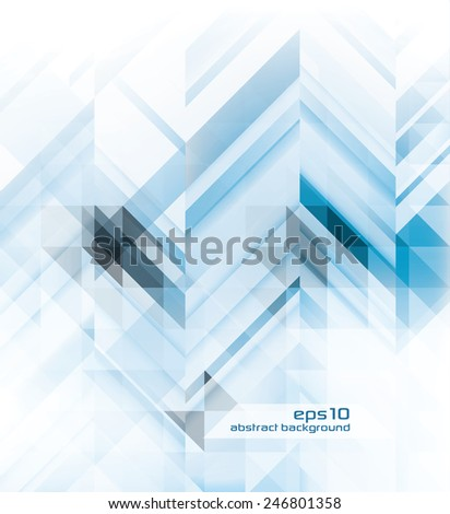 Abstract Blue Background - Geometric Design Elements - stock vector
