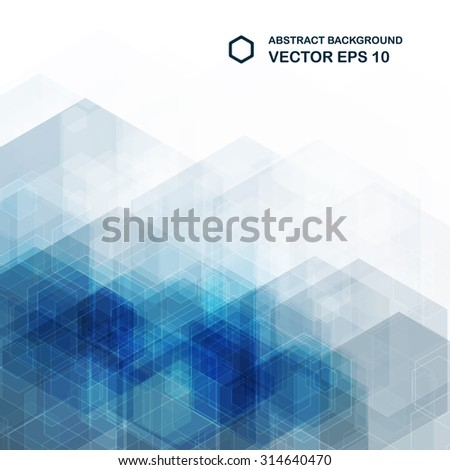Abstract blue background. Hexagonal pattern structure. Vector eps10 image. - stock vector