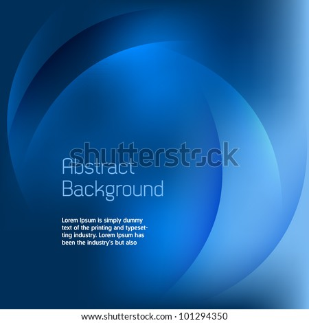 Abstract Blue Background Vector - stock vector