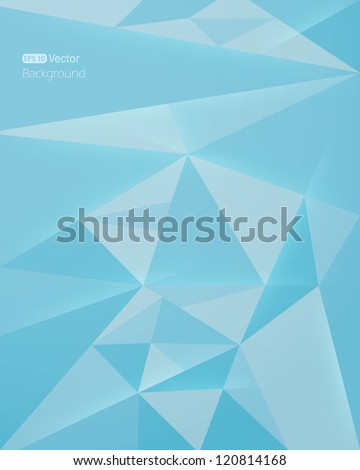 Abstract blue background. Vector - stock vector