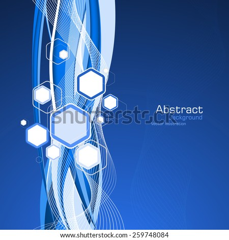 Abstract blue background. Vector. Clip-art - stock vector