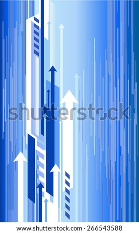 Abstract blue background with a curving or bending feel