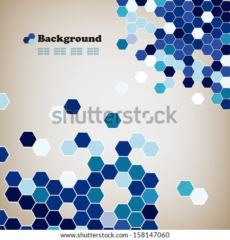 Abstract blue background with geometrical figures