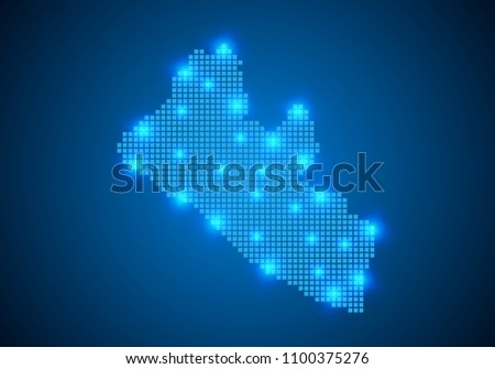 Abstract Blue Background Liberia Map Internet Stock Vector (2018 ...