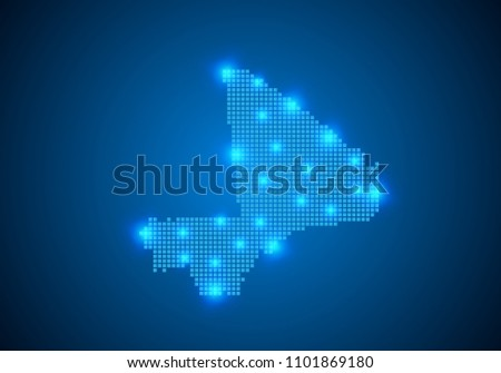 Abstract Blue Background Mali Map Internet Stock Photo (Photo ...
