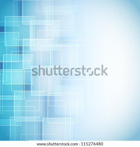 abstract blue background with rhombus - stock vector
