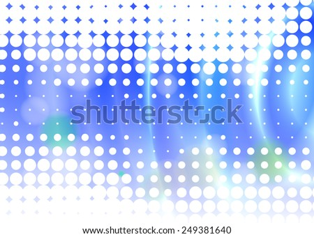 Abstract blue background with ripple on the water effect - stock vector