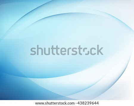 Abstract blue background with smooth lines. EPS 10 vector file included - stock vector