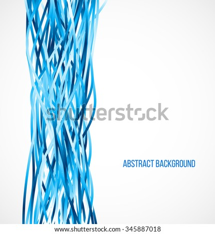 Abstract blue background with vertical lines. Vector illustration - stock vector