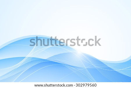 Abstract blue background with wave. Vector. Clip-art - stock vector