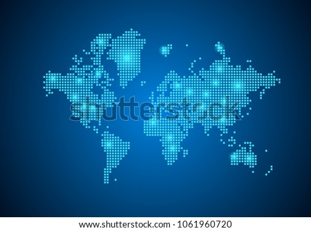 Abstract blue background world map internet stock vector 2018 abstract blue background with world map internet line connected points world map with gumiabroncs Image collections