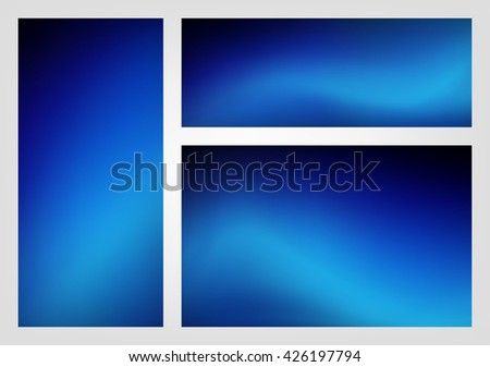Abstract blue black color gradient blur background illustration vector