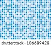 Abstract blue boxes background pattern - stock vector
