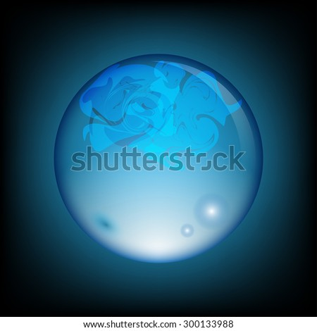 Abstract blue bubble background