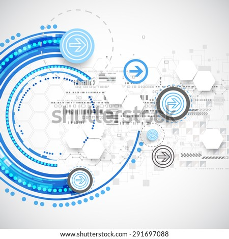 Abstract blue business science or technology background. Vector - stock vector