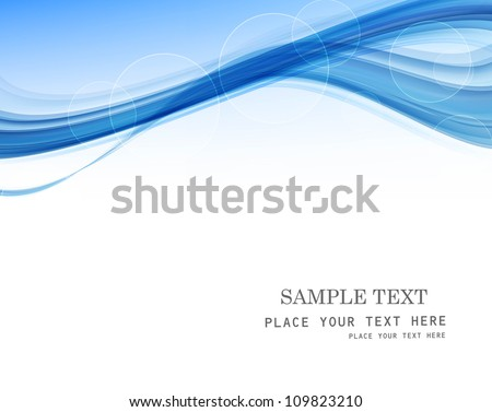 abstract blue business technology colorful wave whit vector - stock vector