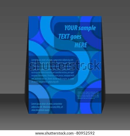 Abstract blue circle background flyer design