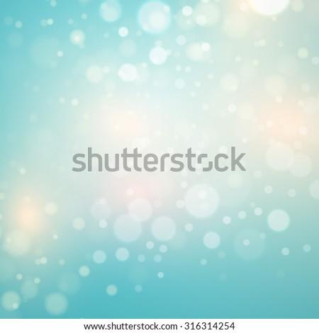 Abstract blue  circular bokeh background. Vector illustration EPS 10 - stock vector