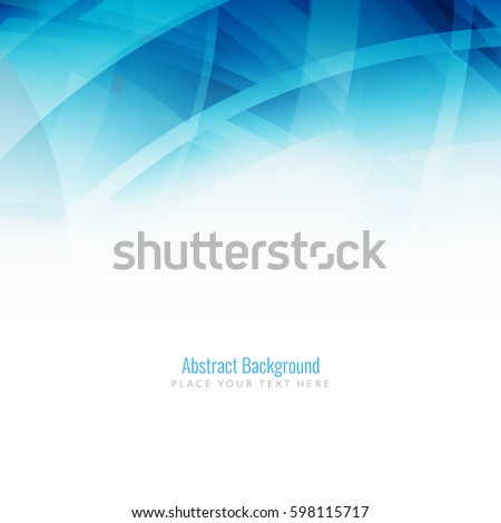 Abstract blue color modern background design