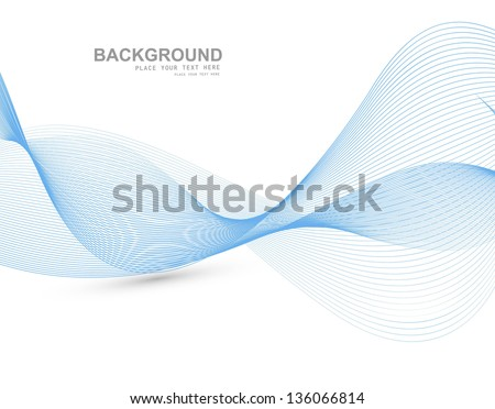 abstract blue colorful line wave vector illustration - stock vector