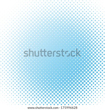 Abstract blue dotted background - stock vector