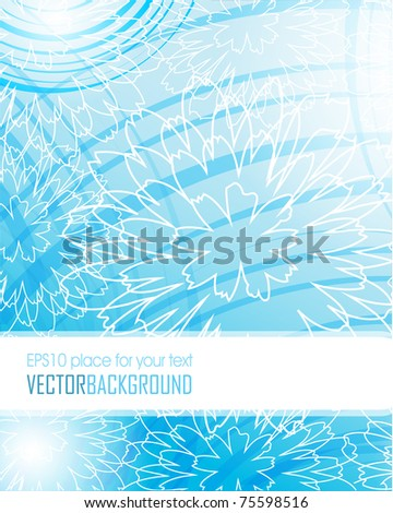 Abstract blue floral card