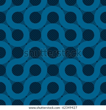 abstract blue flow web background (seamless  pattern) - stock vector