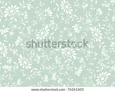 abstract blue flowers background - stock vector