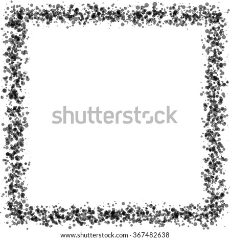 Abstract Blue Frame Background. Vector Illustration