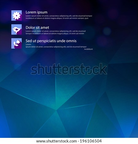 Abstract blue geometric background for your business presentation. Vector illustration