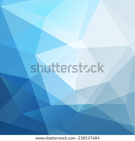 Abstract blue geometric triangles background - eps10 - stock vector