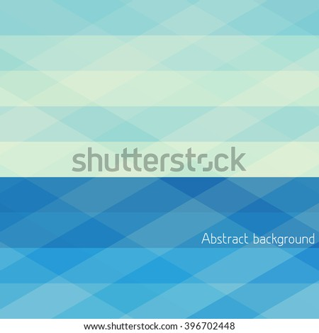 Abstract blue geometrical background with horizontal stripes. Vector graphic pattern - stock vector