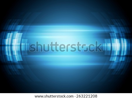 Abstract blue hi-tech background. Vector design illustration - stock vector