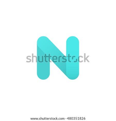 Abstract Blue Letter N Logo Design Stock Vector 480351826 Shutterstock