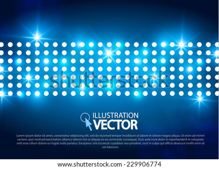 Abstract blue light background.  Vector illustration - stock vector