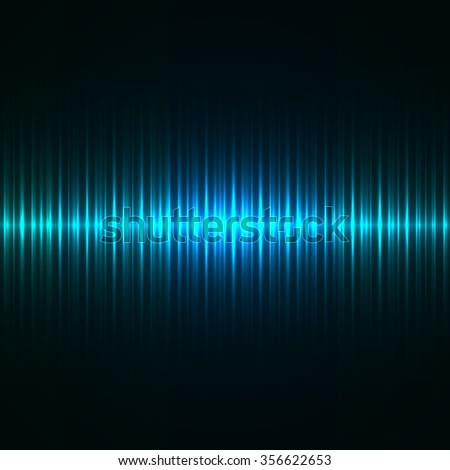 Abstract blue light strokes vector background.