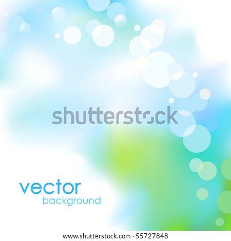 Abstract blue light vector background - stock vector