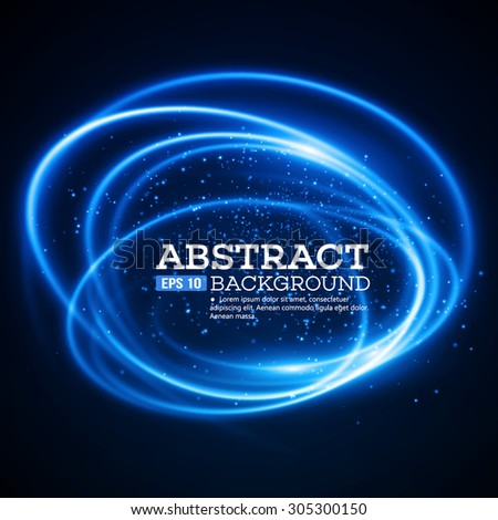 Abstract Blue Lights Effect Background. Vector illustration EPS 10 - stock vector