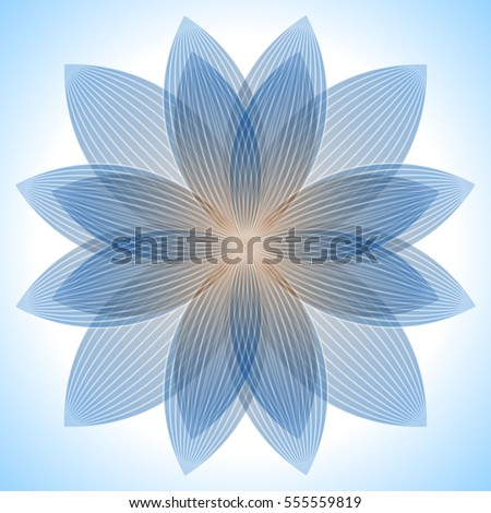 Abstract blue lotus flower abstract blue stock vector 2018 abstract blue lotus flower abstract blue background geometric shapes with many thin lines mightylinksfo