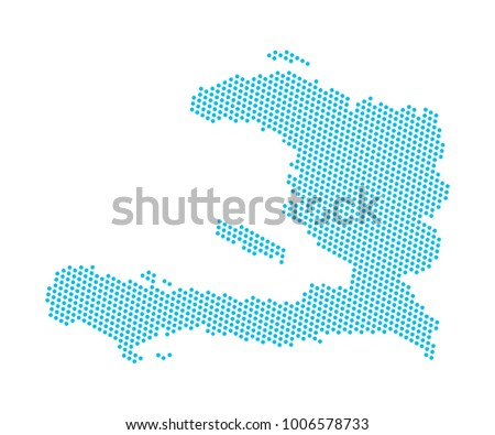 Abstract blue map haiti dots planet stock vector 1006578733 abstract blue map of haiti dots planet lines global world map halftone concept gumiabroncs